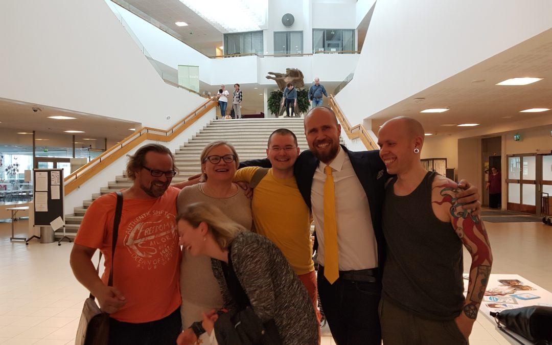 ''Laulava'' Vihreiden puoluekokous Tampereella 16.-18.6.2017