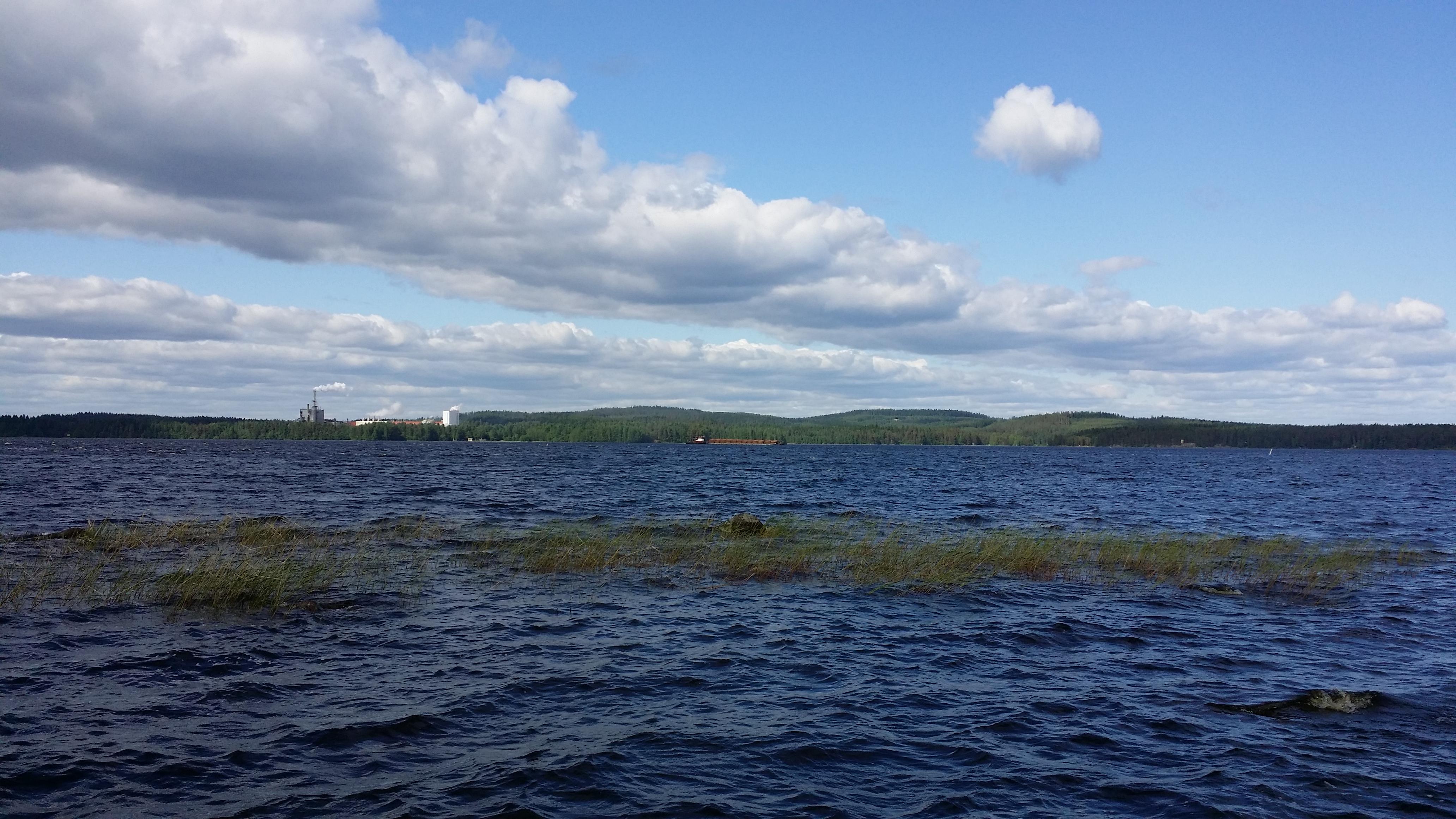 Sorsasalo Kelloniemestä Kallaveden ylikuvattuna
